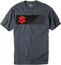 Factory Effex Licensed Suzuki S-Bar T-Shirt Charcoal Mens All Sizes $21.00