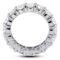 5.27 Carat Total H/VS2/Ideal Round Certify Diamonds 14k Classic Eternity Ring 5g