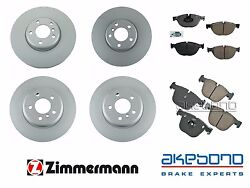 For Bmw F07 535i Gt Xdrive 11-14 Front And Rear Left And Right Brake Rotors Pads Oem