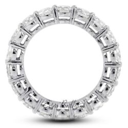 2.22ct Total F/i1/ideal Round Certify Diamonds 14kw Basket Anniversary Band 3.1g