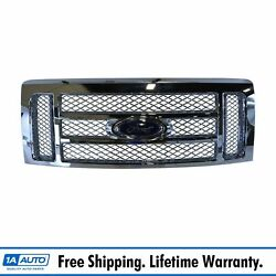 Oem Cl3z8200bb Chrome Mesh 2 Bar Grille With Emblem For F150 Pickup Truck New