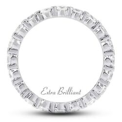 4.57ct Total GSI1Ideal Round Certify Diamonds 950PL Classic Eternity Band 6.5g