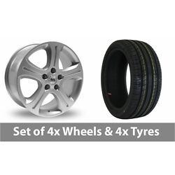 4 X 18 Bk Racing 863 Silver Alloy Wheel Rims And Tyres - 245/50/18