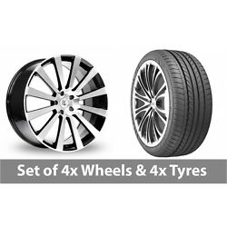 4 X 20 Bk Racing 660 Black Polished Alloy Wheel Rims And Tyres - 275/35/20