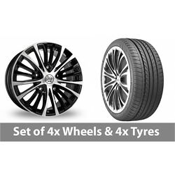 4 X 20 Bk Racing 191 Black Polished Alloy Wheel Rims And Tyres - 275/35/20
