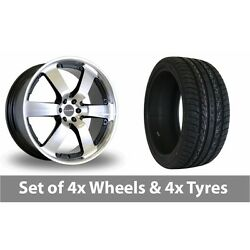 4 X 20 Dare Outlaw Black Polished Alloy Wheel Rims And Tyres - 275/40/20
