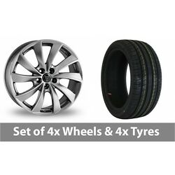 4 X 18 Wolfrace Lugano Shadow Chrome Alloy Wheel Rims And Tyres - 255/40/18