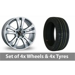 4 X 18 Wolfrace Dh Silver Alloy Wheel Rims And Tyres - 255/45/18