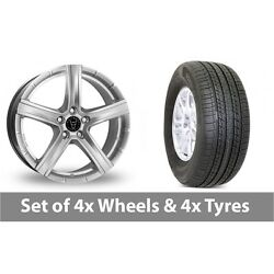 4 X 19 Wolfrace Quinto Silver Alloy Wheel Rims And Tyres - 255/50/19