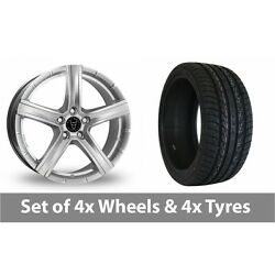 4 X 20 Wolfrace Quinto Suv Silver Alloy Wheel Rims And Tyres - 275/40/20