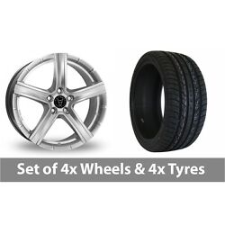 4 X 20 Wolfrace Quinto Suv Silver Alloy Wheel Rims And Tyres - 295/40/20