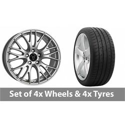 4 X 19 Wolfrace Perfektion Silver Alloy Wheel Rims And Tyres - 285/30/19