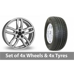 4 X 18 Wolfrace Temper Silver Alloy Wheel Rims And Tyres - 265/60/18