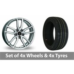 4 X 19 Wolfrace Torino Silver Alloy Wheel Rims And Tyres - 235/40/19
