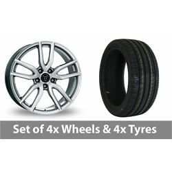 4 X 19 Wolfrace Torino Silver Alloy Wheel Rims And Tyres - 245/45/19