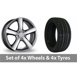 4 X 18 Dezent High Gloss Alloy Wheel Rims And Tyres - 235/45/18