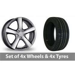 4 X 18 Dezent High Gloss Alloy Wheel Rims And Tyres - 245/45/18