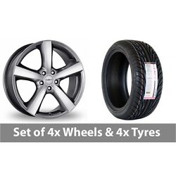4 X 18 Dezent High Gloss Alloy Wheel Rims And Tyres - 255/35/18
