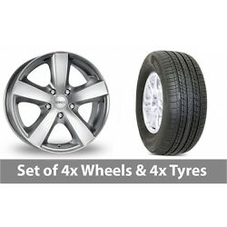4 X 17 Dezent High Gloss Alloy Wheel Rims And Tyres - 235/65/17