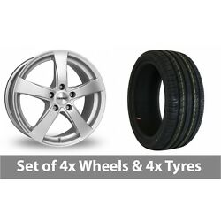 4 X 19 Dezent Re Silver Alloy Wheel Rims And Tyres - 245/45/19
