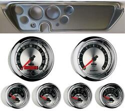 67 Gto Silver Dash Carrier W/ Auto Meter American Muscle Gauges