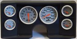 82-88 Chevy G Body Black Dash Carrier W/ Auto Meter Ultra Lite Electric Gauges