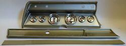66 Chevelle Silver Dash Carrier W/ Auto Meter American Muscle Gauges
