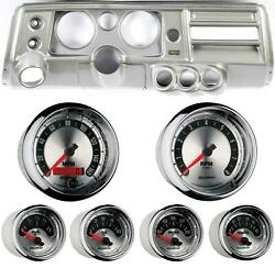 68 Chevelle Silver Dash Carrier W/ Auto Meter 5 American Muscle Gauges W/ Astro