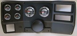 84-87 Chevy Truck Black Dash Carrier W/ Auto Meter American Muscle Gauges