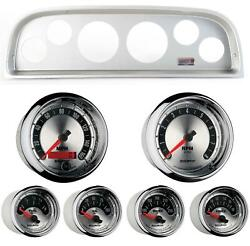 60-63 Chevy Truck Silver Dash Carrier W/ Auto Meter American Muscle Gauges
