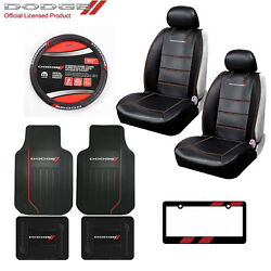 Dodge Elite Car Truck Front Seat Covers Floor Mats Steering Wheel Cover And Gift