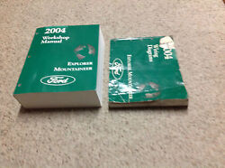2004 Ford EXPLORER Mercury Mountaineer Service Shop Repair Manual Set W EWD