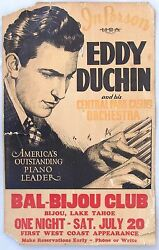 Eddy Duchin And His Central Park Casino Orchestra Boxing Style Poster, 1935