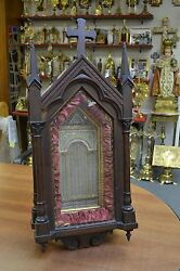 + Large Older Reliquary Shrine with Hundreds of Relics + Apostles