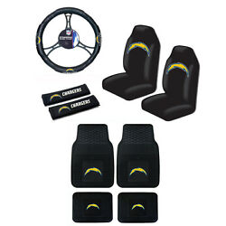 Nfl Los Angeles Chargers Car Truck Seat Covers Steering Wheel Cover Floor Mats