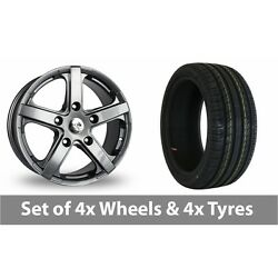 4 X 18 Fox Racing Commercial Grey Alloy Wheel Rims And Tyres - 255/45/18