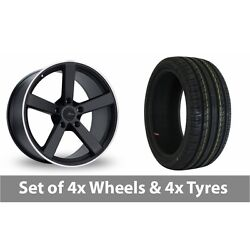4 X 18 Fox Racing Ms003 Alloy Wheel Rims And Tyres - 255/45/18