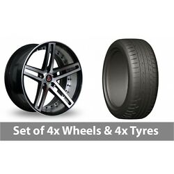 4 X 20 Axe Ex20 Black Polished Alloy Wheel Rims And Tyres - 275/45/20