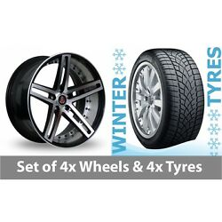 4 X 20 Axe Ex20 Black Polished Alloy Wheel Rims And Tyres - 265/35/20