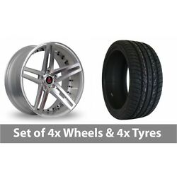 4 X 20 Axe Ex20 Silver Polished Alloy Wheel Rims And Tyres - 275/40/20