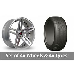 4 X 20 Axe Ex20 Silver Polished Alloy Wheel Rims And Tyres - 275/45/20