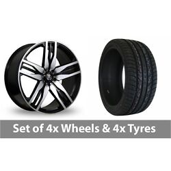 4 X 22 Axe Ex22 Black Polished Alloy Wheel Rims And Tyres - 275/40/22