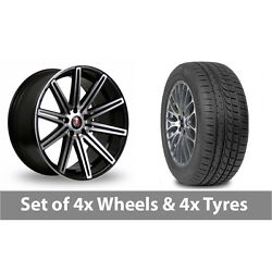4 X 19 Axe Ex15 Black Polished Alloy Wheel Rims And Tyres - 265/30/19