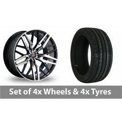 4 X 20 Axe Ex30 Black Polished Alloy Wheel Rims And Tyres - 255/30/20