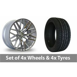 4 X 20 Axe Ex30 Silver Polished Alloy Wheel Rims And Tyres - 255/45/20