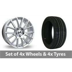 4 X 19 Tekno Rx7 Silver Alloy Wheel Rims And Tyres - 245/45/19