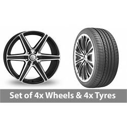4 X 20 Cades Thor Black Polished Alloy Wheel Rims And Tyres - 275/35/20