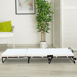 Modern Convertible Sofa Bed/ottoman Couch Mattress Lounge Bed Sleeper W/casters
