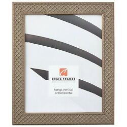 Craig Frames Lenox 1.13 Inch Antique Silver Solid Wood Picture Frame