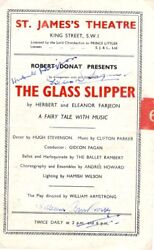 Signed Programme The Glass Slipper Farjeon Fagan Ect St James's Theatre 1944